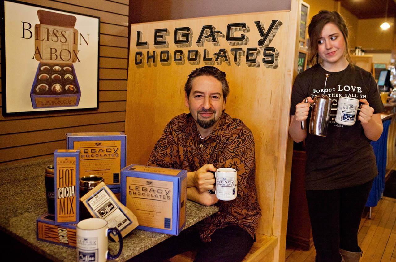 David Brier Branding Expert drinks Coffee
