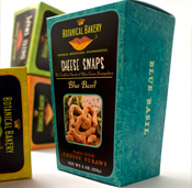 Botanical Bakery's Cheese Snaps Package Design