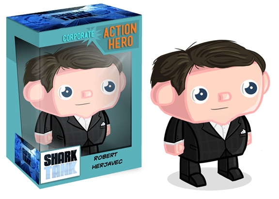 Robert Herjavec Shark Tank Action Figure