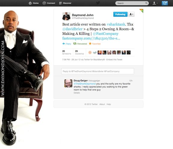 Daymond John of Shark Tank Applauds David Brier