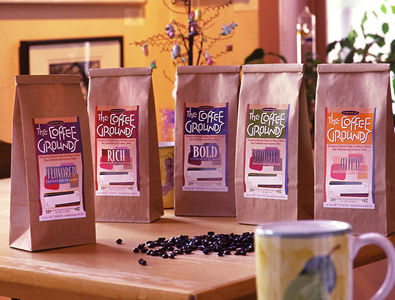 Coffee Grounds Package Design and Rebrand