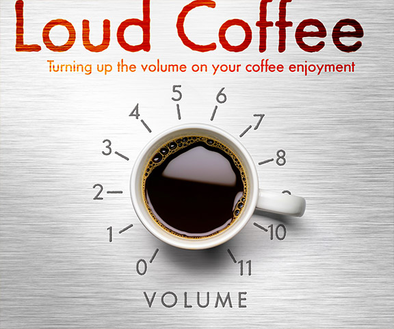 Loud Coffee Brand Ideny And Concept