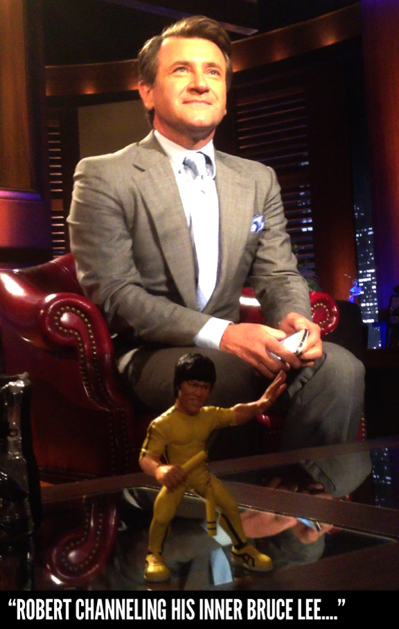 Bruce Lee makes a surprise visit to Shark Tank