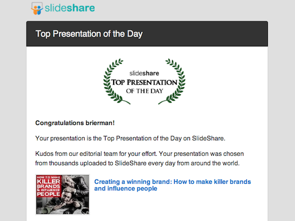 Slideshare chooses David Brier as top presentation of the day