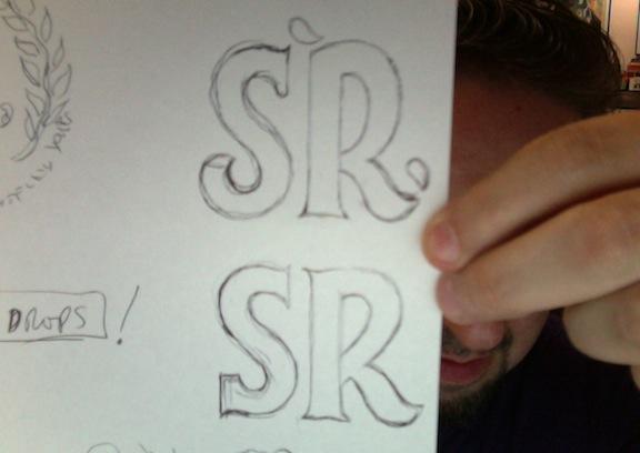 Logo Design sketches by David Brier