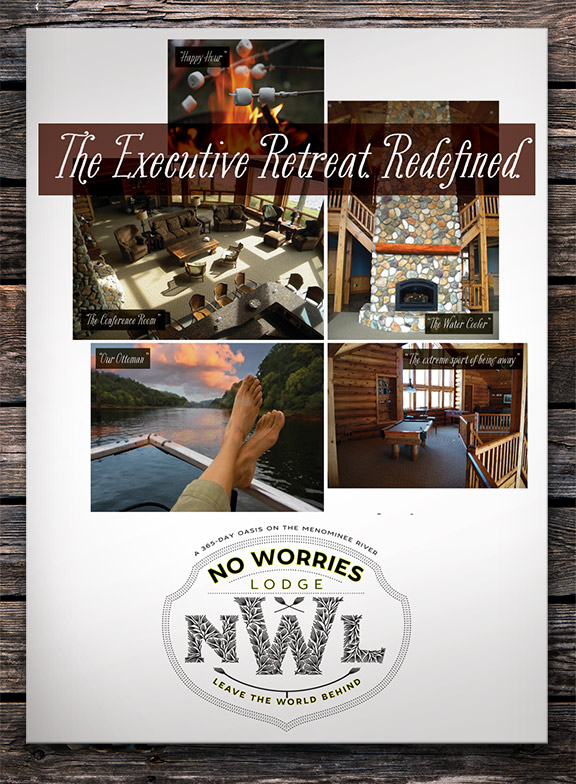 Executive Retreat for No Worries Lodge by David Brier