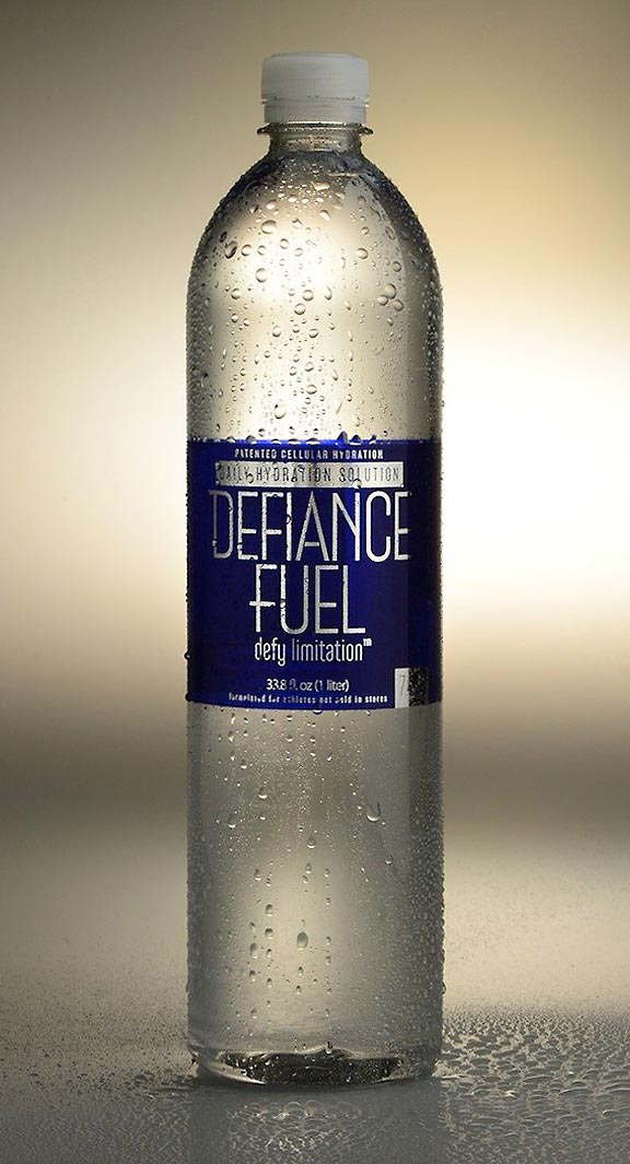 Package Design of Defiance Fuel water