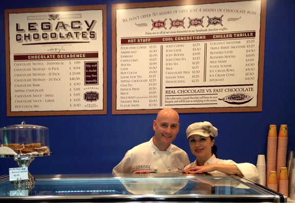 Mark and Lorraine, proud owners of Legacy Chocolates
