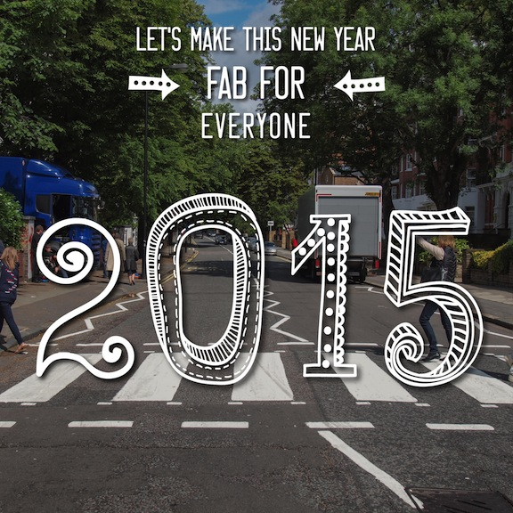 2015 Happy New Year wish from David Brier and the Fab Four
