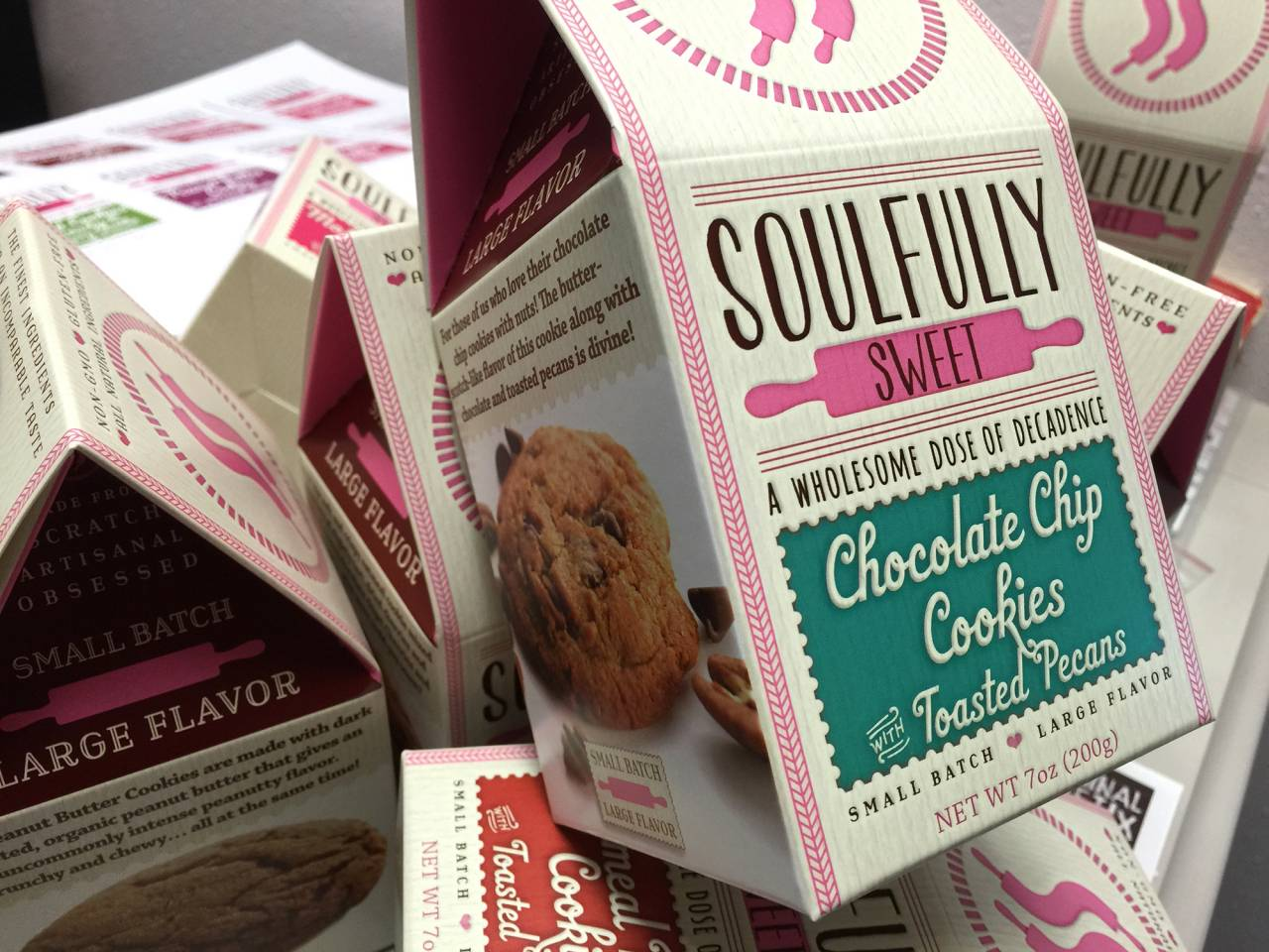 Soulfully Sweet Rebranding -- package design