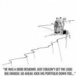 Make the logo bigger New Yorker cartoon