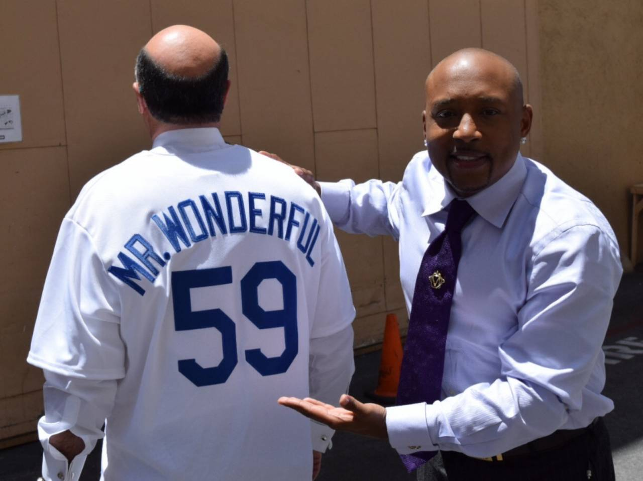 Daymond John with Mr. Wonderful