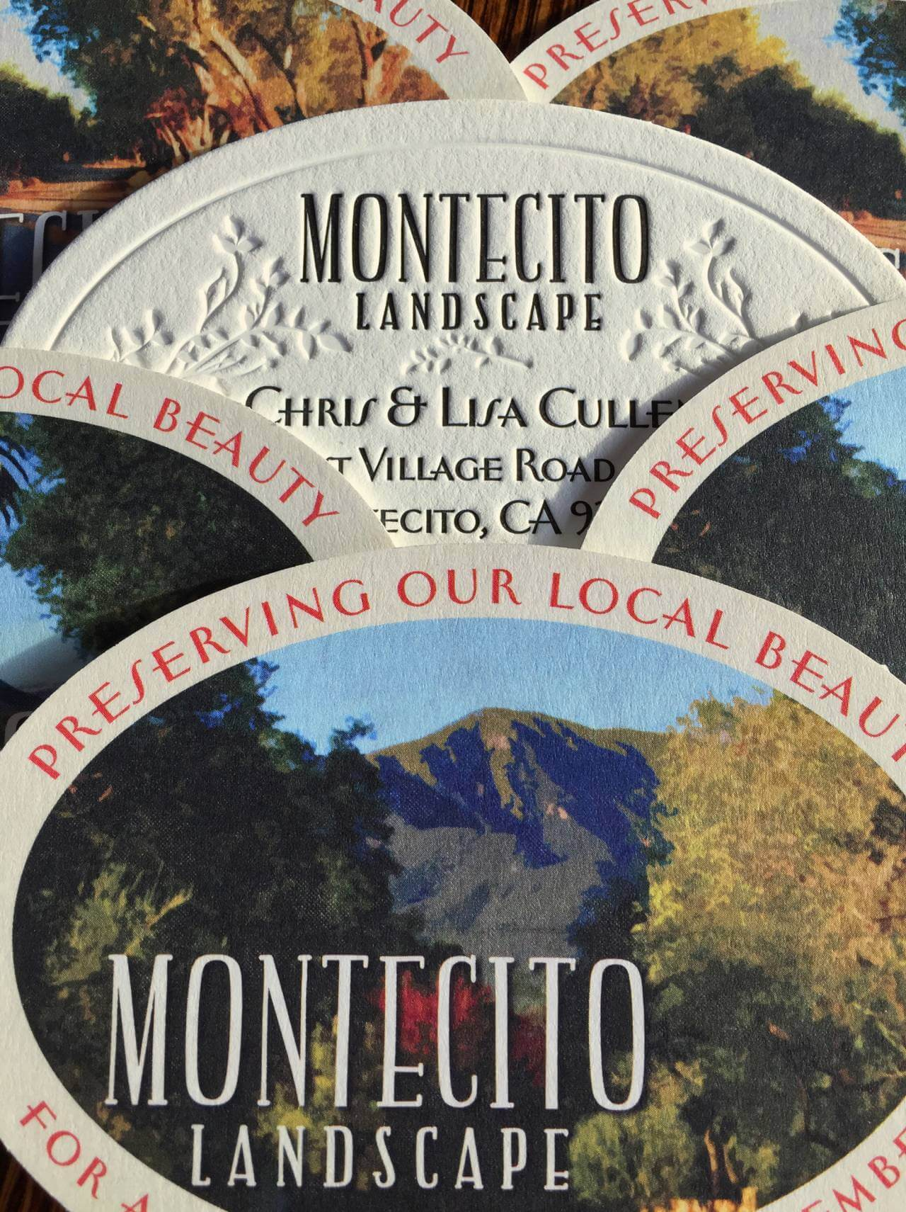 montecito landscape rebrand business cards