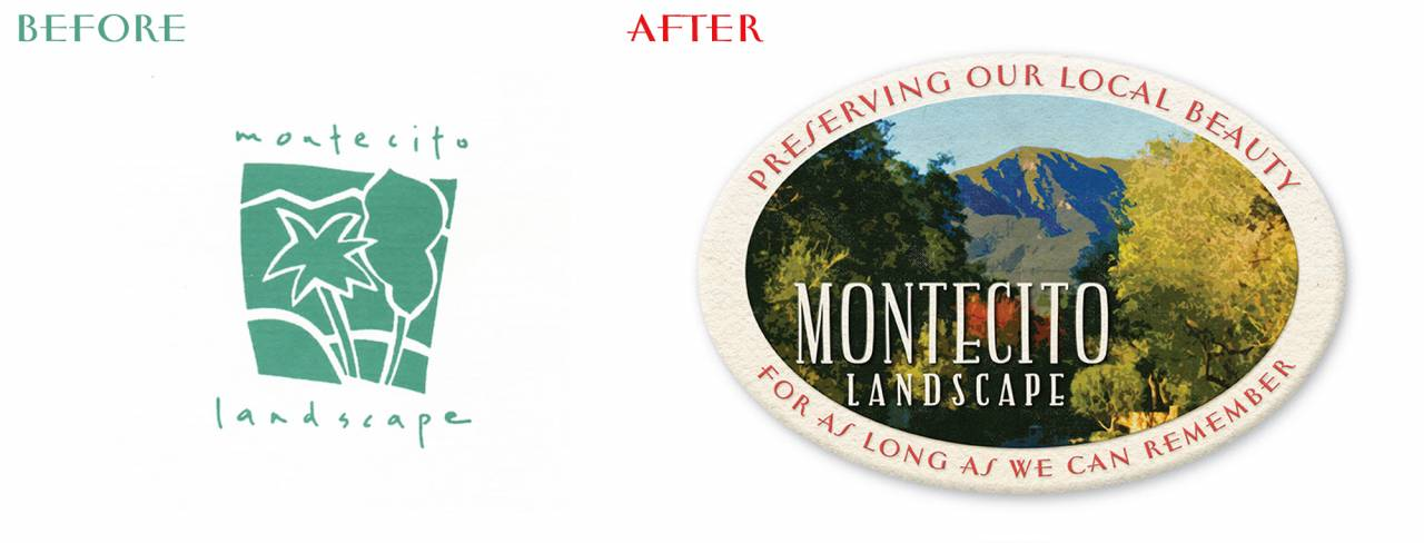 Montecito rebrand before and after