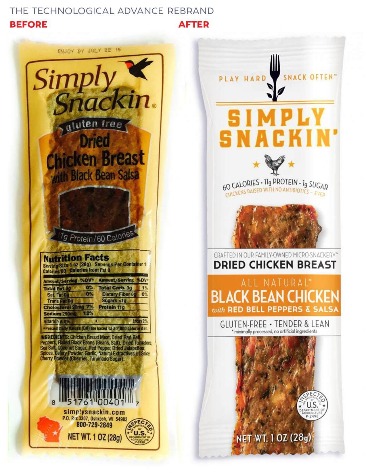 rebranding simply snacking' brand identity