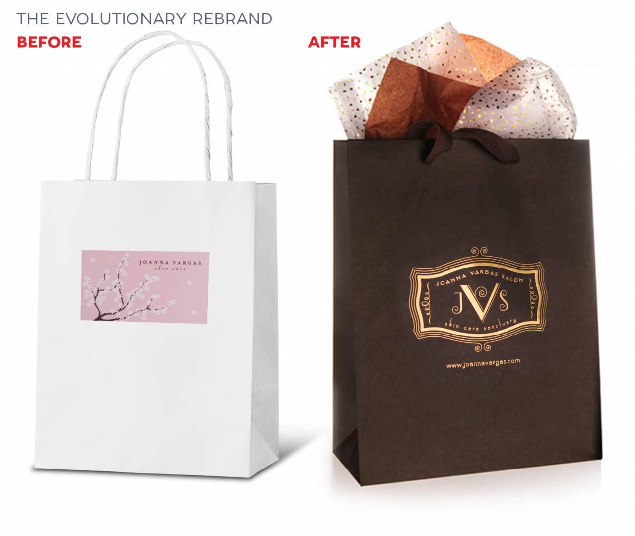 rebranding Joanna Vargas packaging