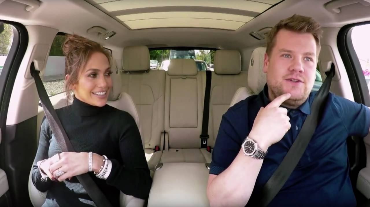 James Corden and Jennifer Lopez go viral