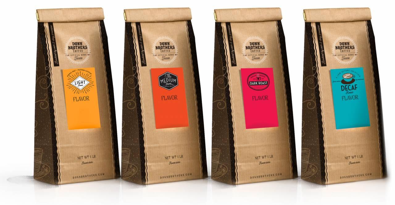 retail coffee bean bags