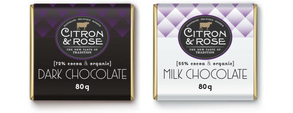 Chocolate Square Branding for Citron and Rose