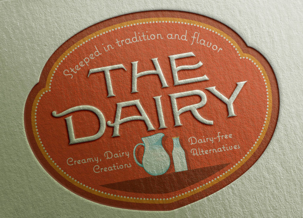 The Dairy Logo Letterpressed
