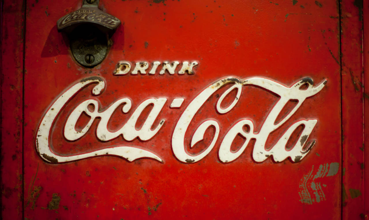 Coca-Cola logo and sign