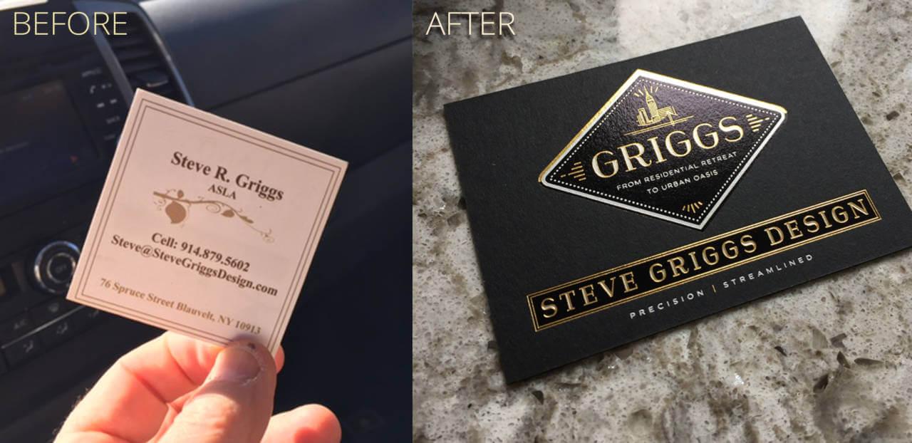 Rebranding Steve Griggs Design business Card