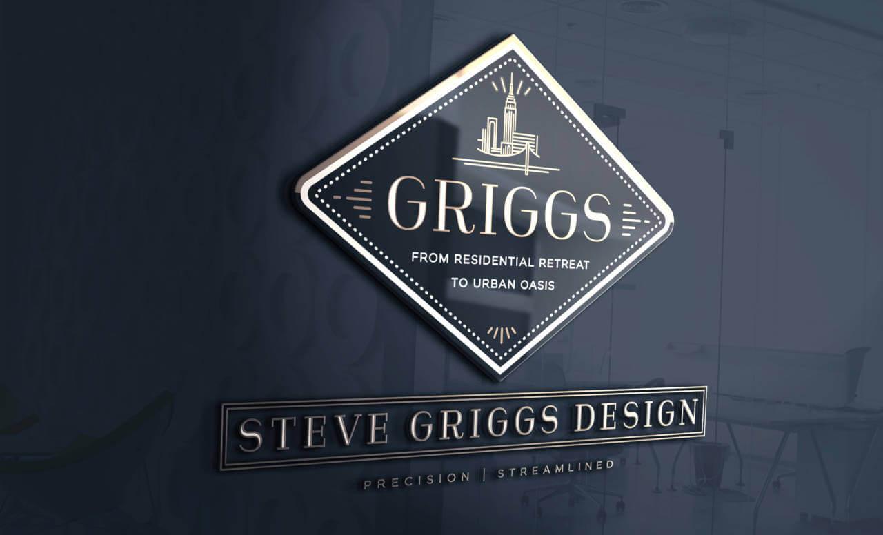 Rebranding signage for Steve Griggs Design