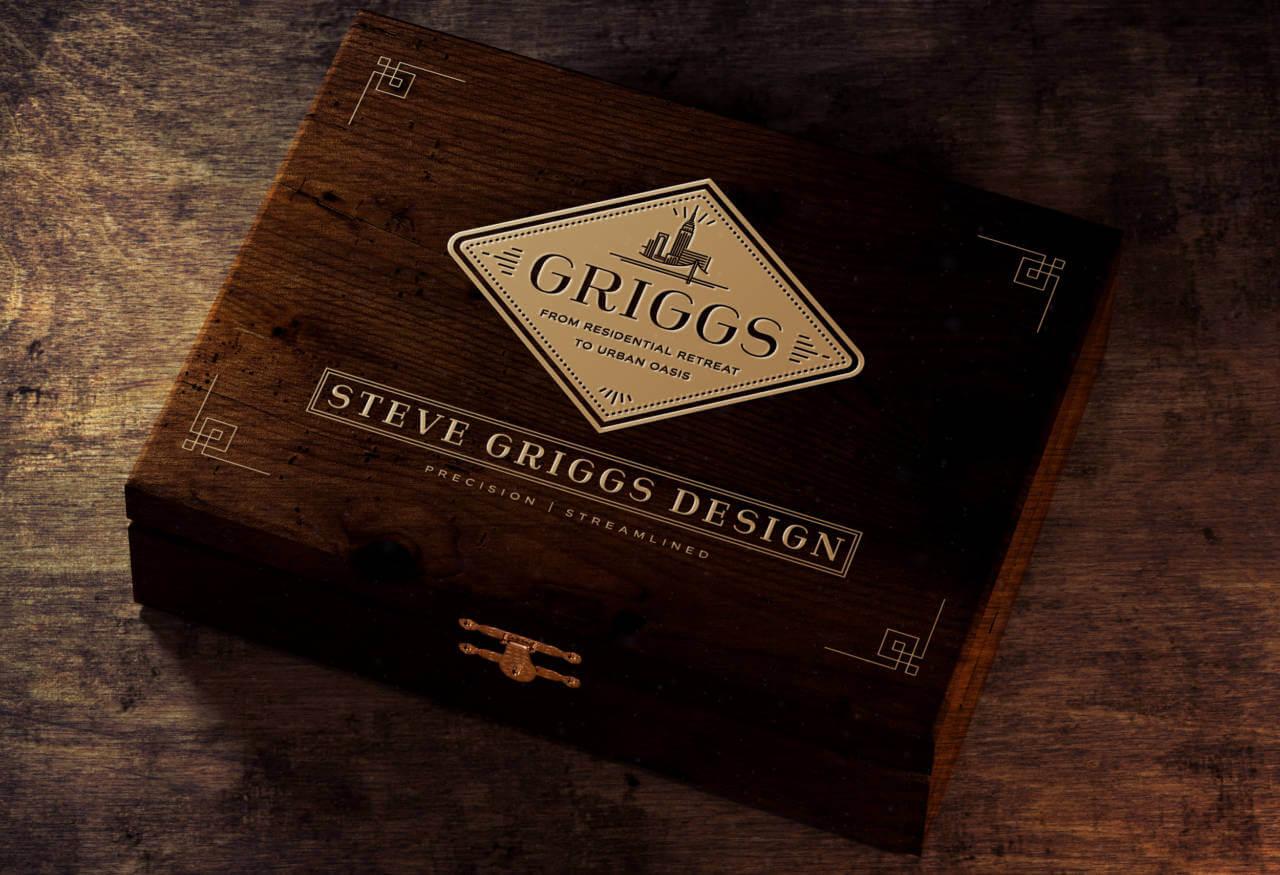 rebranding box for Steve Griggs Design