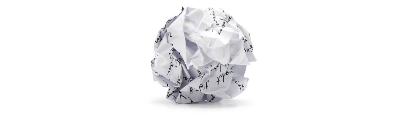 power of storytelling crumpled paper