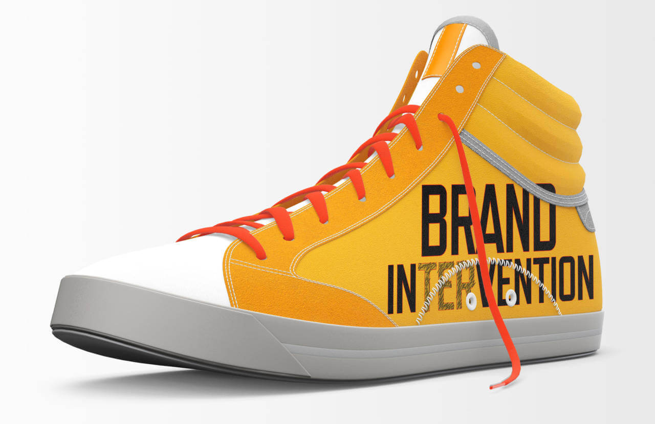 Brand Intervention sneaker by David Brier