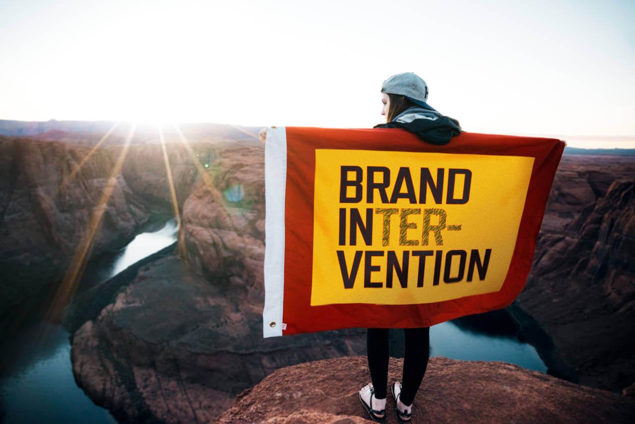 Brand Intervention Towel by David Brier