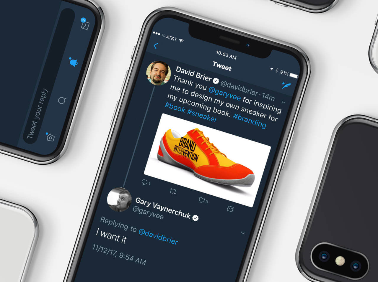 The Gary Vee Tweet and his Sneaker Box from David Brier