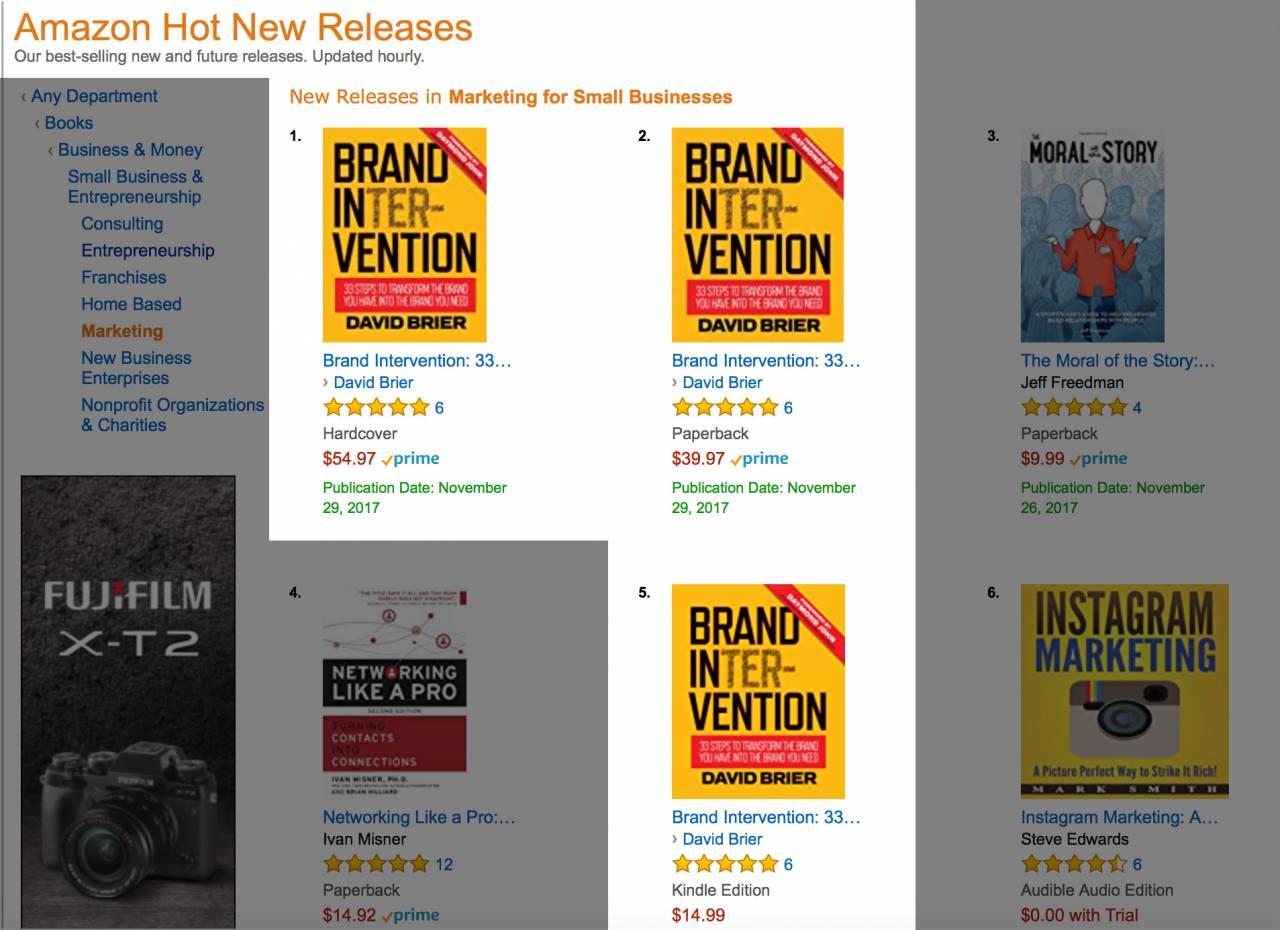 My #1 Amazon Bestseller