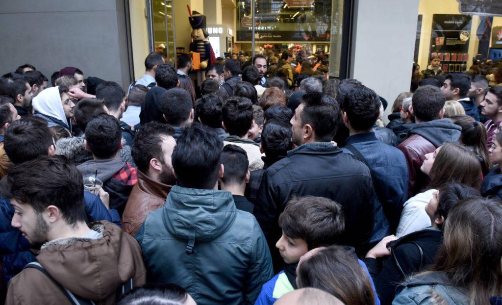 Black Friday shopping frenzy