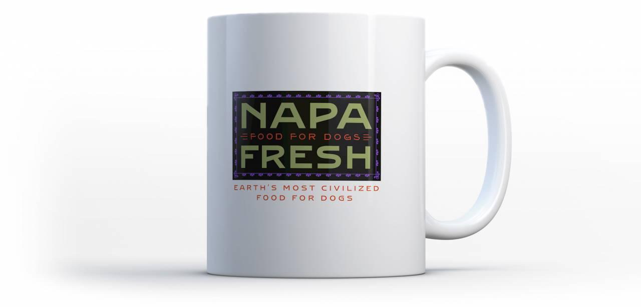 Rebranding a company: Napa Fresh Coffee Mug