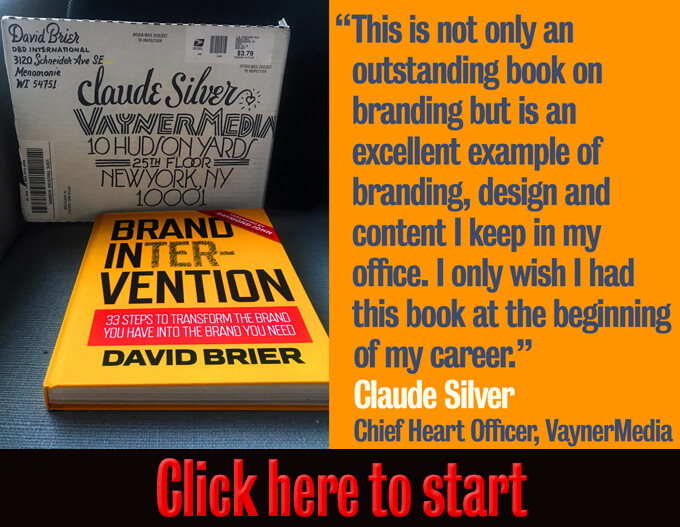 Hardcover Book On Branding by David Brier