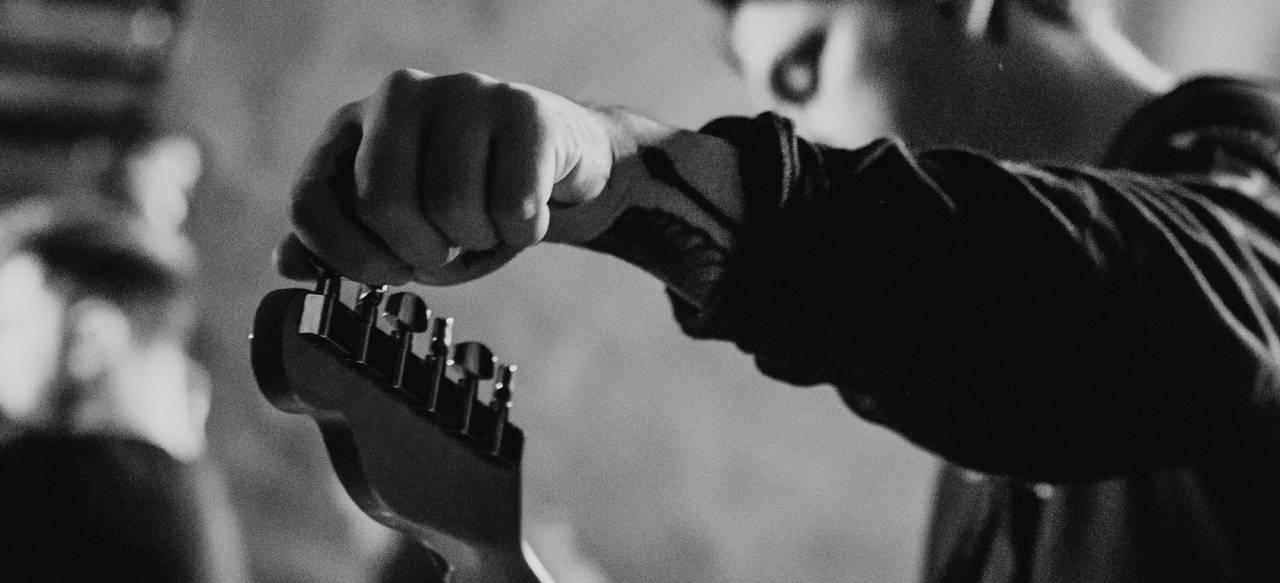 Guitar Player for Branding
