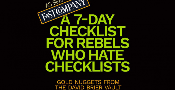 Is This The Best 7-Day Checklist for Smart Business Rebels?