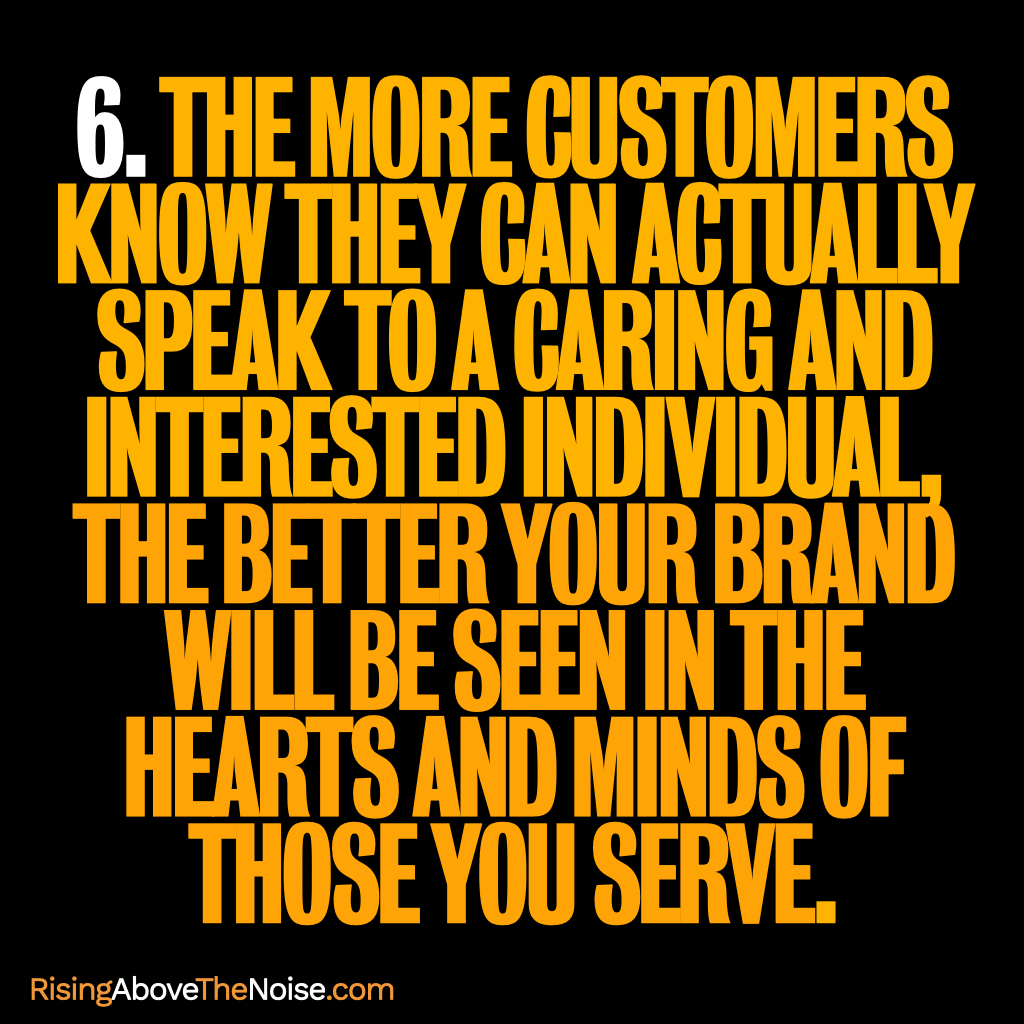 Meaningful Connections With Customers, step 6