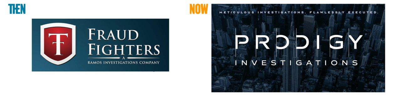 One of 11 Powerful Rebrands by David Brier for Prodigy Investigations